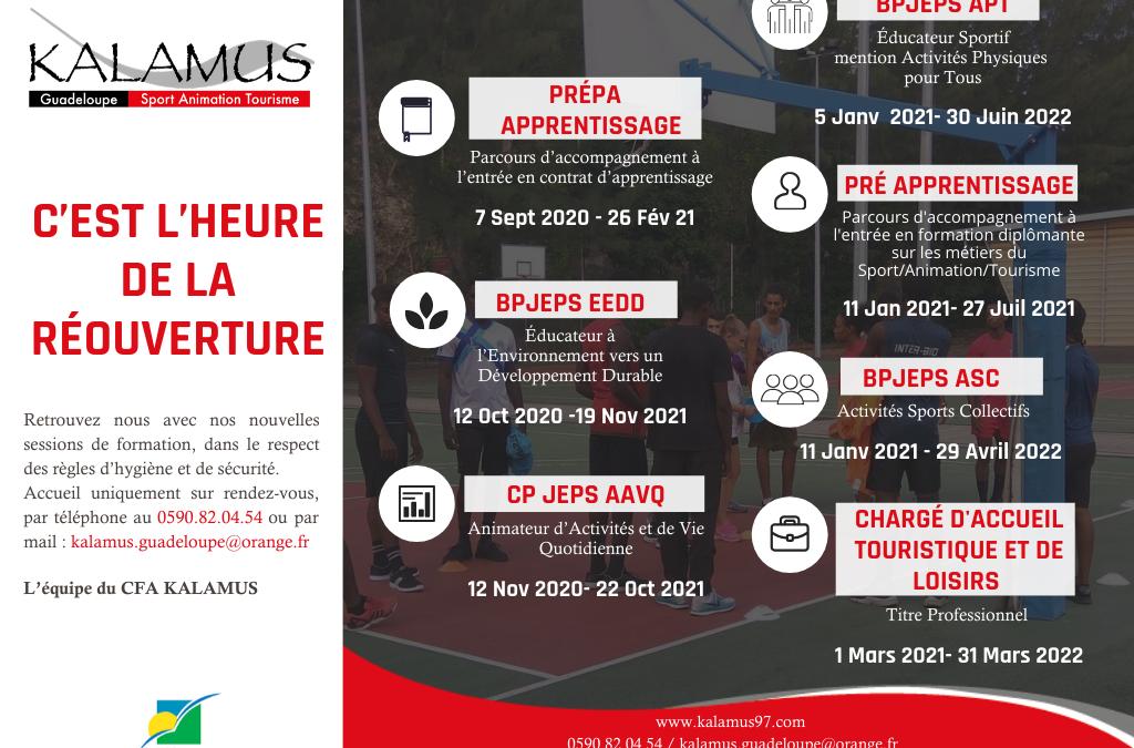 CFA KALAMUS Guadeloupe : Infos Formations